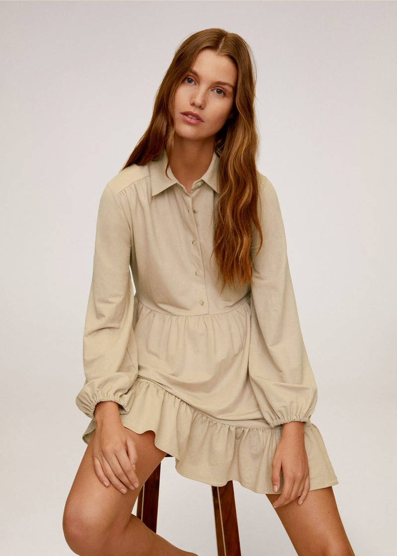 Button shirt dress