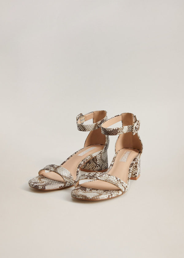Mango Ankle-cuff sandals for Women - Medium Plane