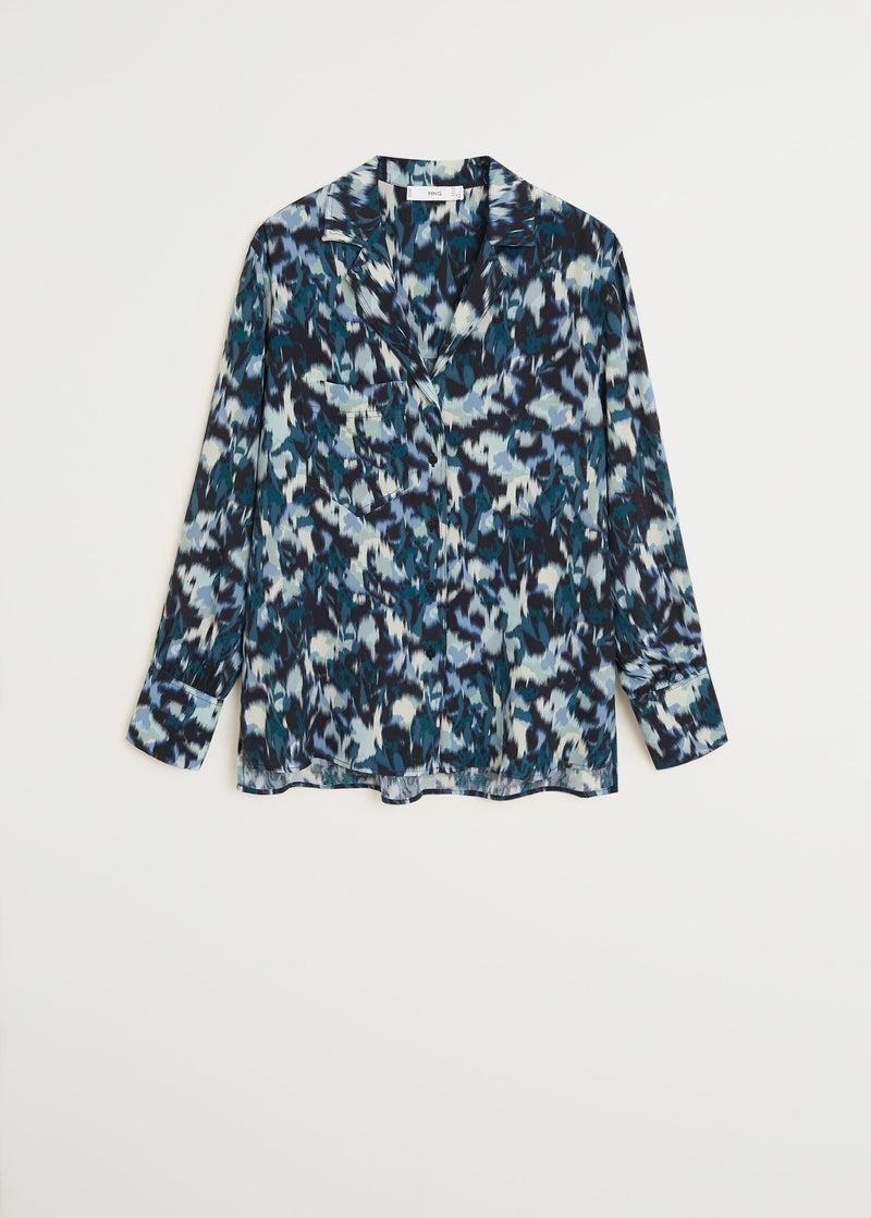 Printed flowy shirt