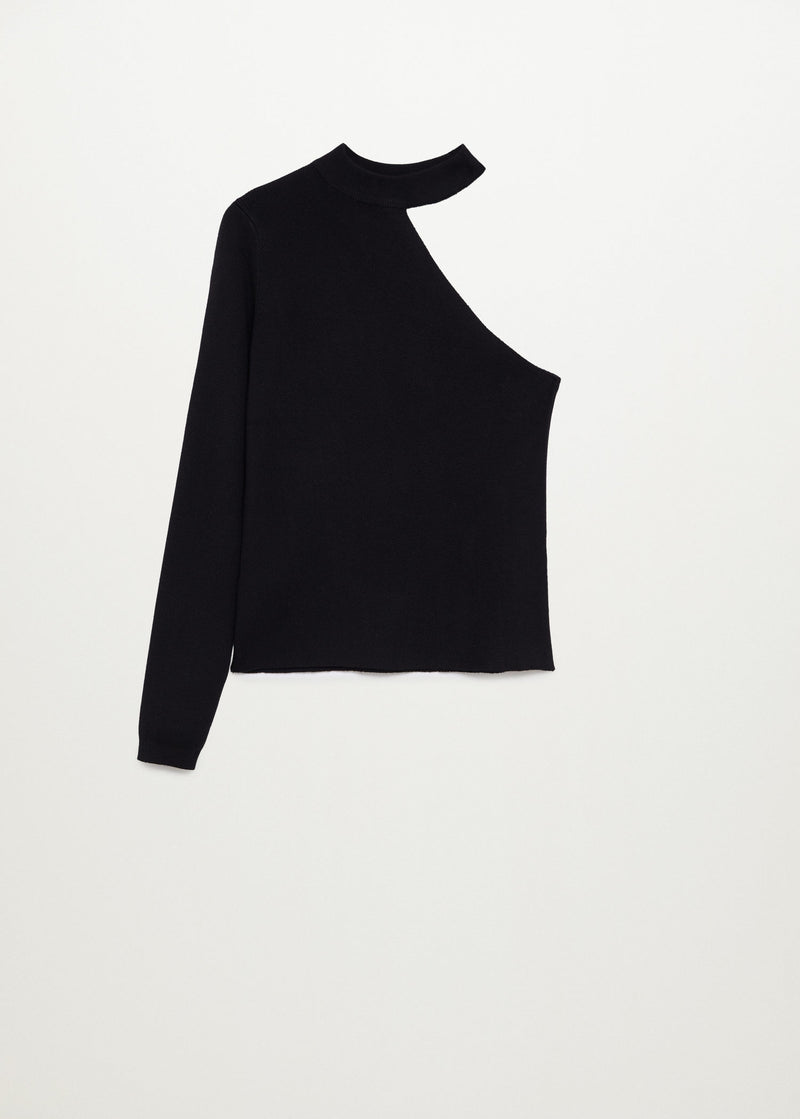 Mango Asymmetric knit sweater for Women - Medium Plane