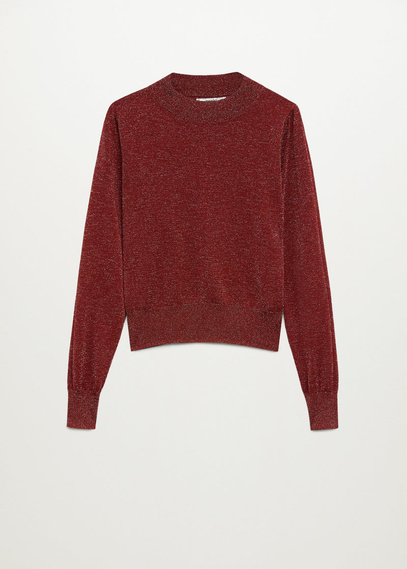 Glossed effect knit sweater