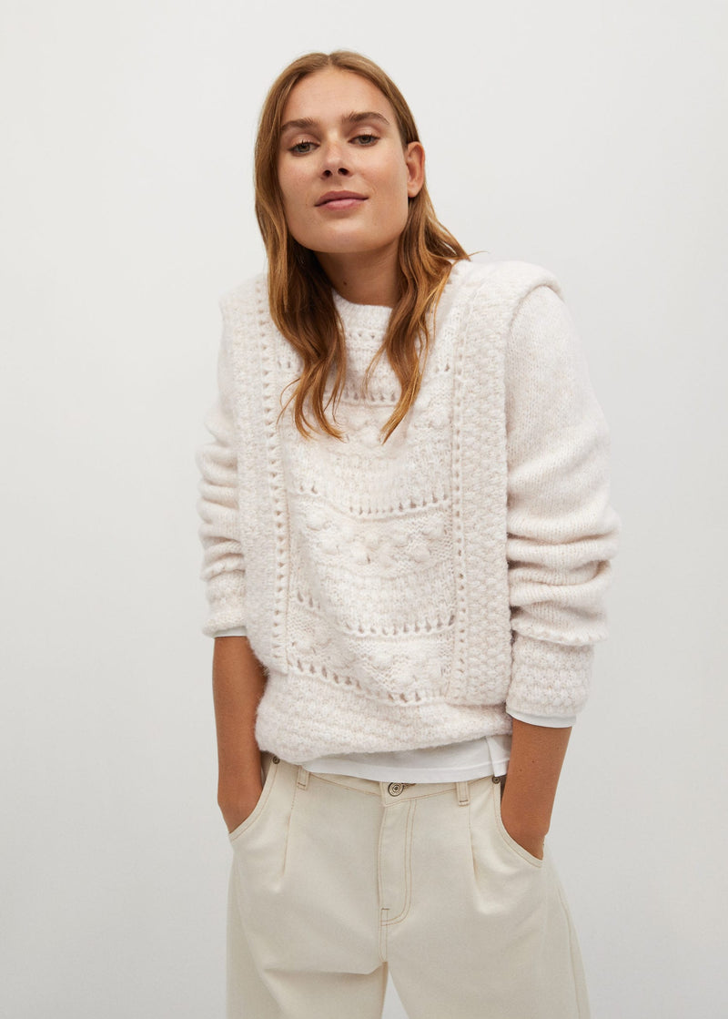 Mango Openwork knit sweater for Women - General Plane