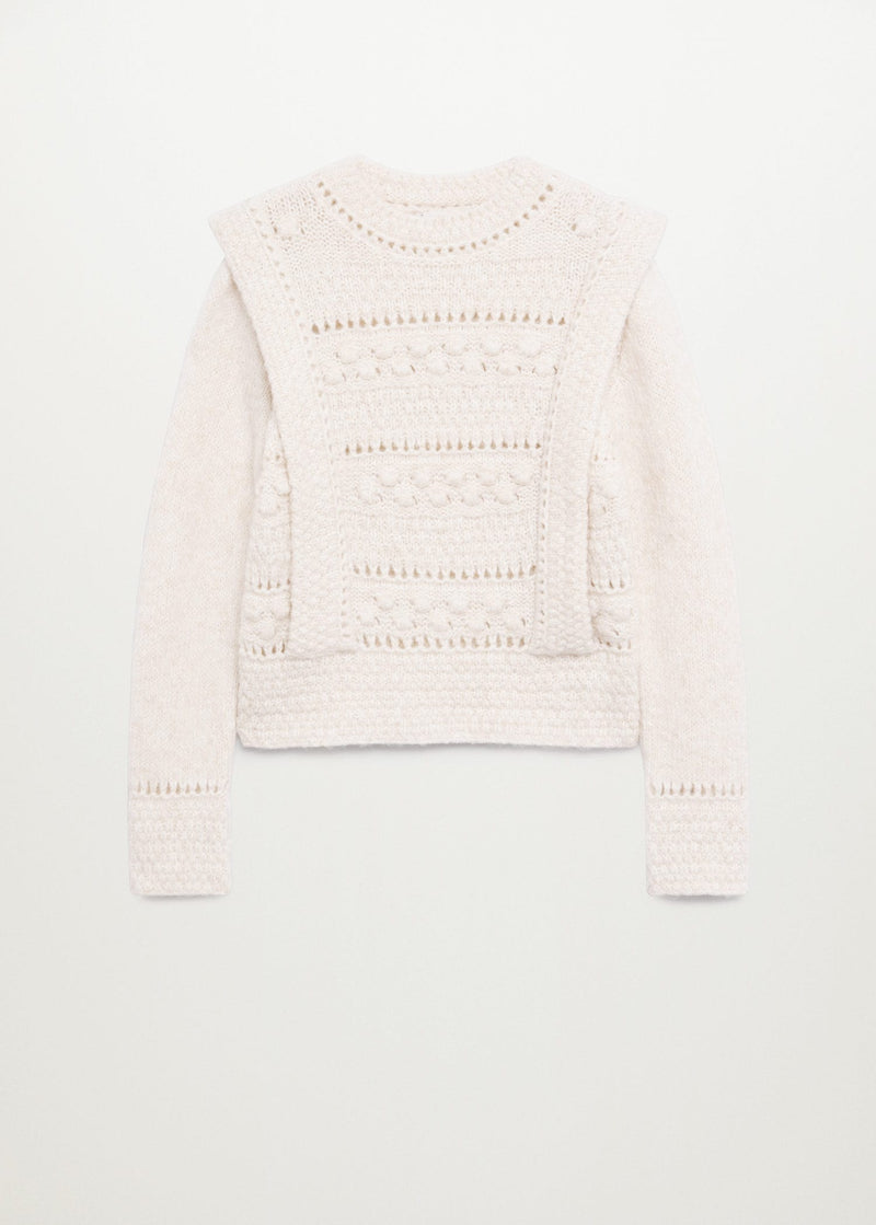 Double-breasted coat.
