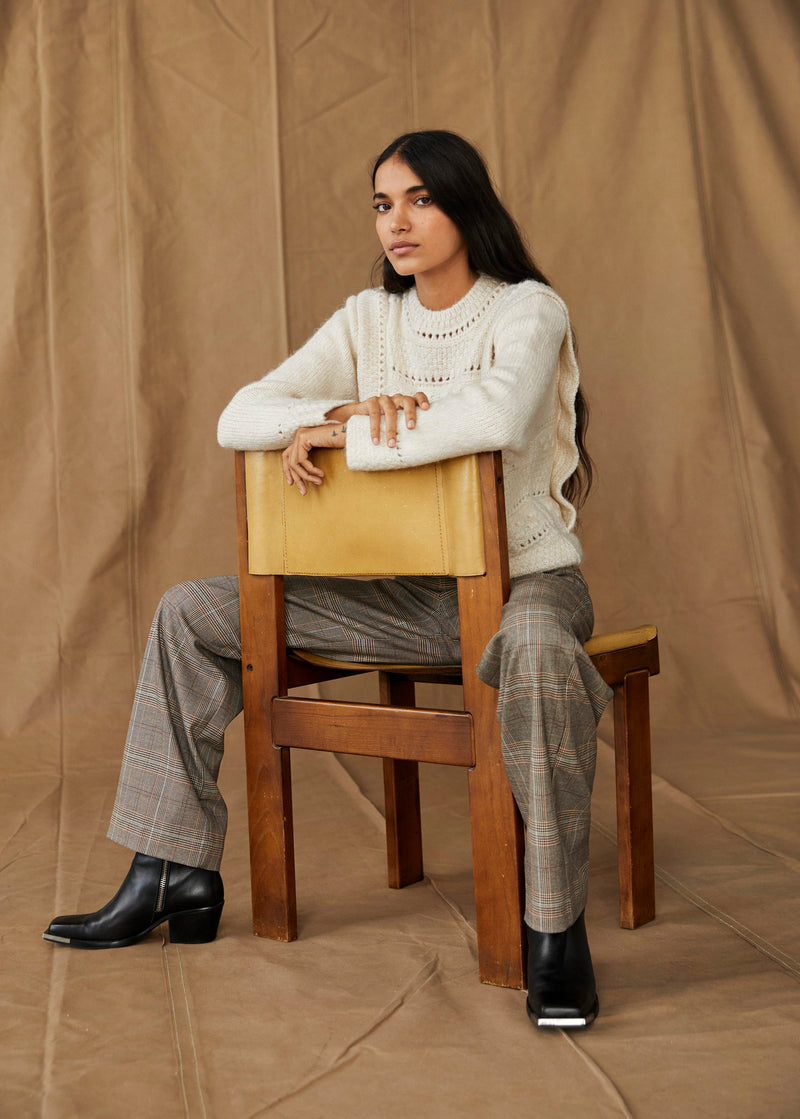 Mango Openwork knit sweater for Women - Medium Plane