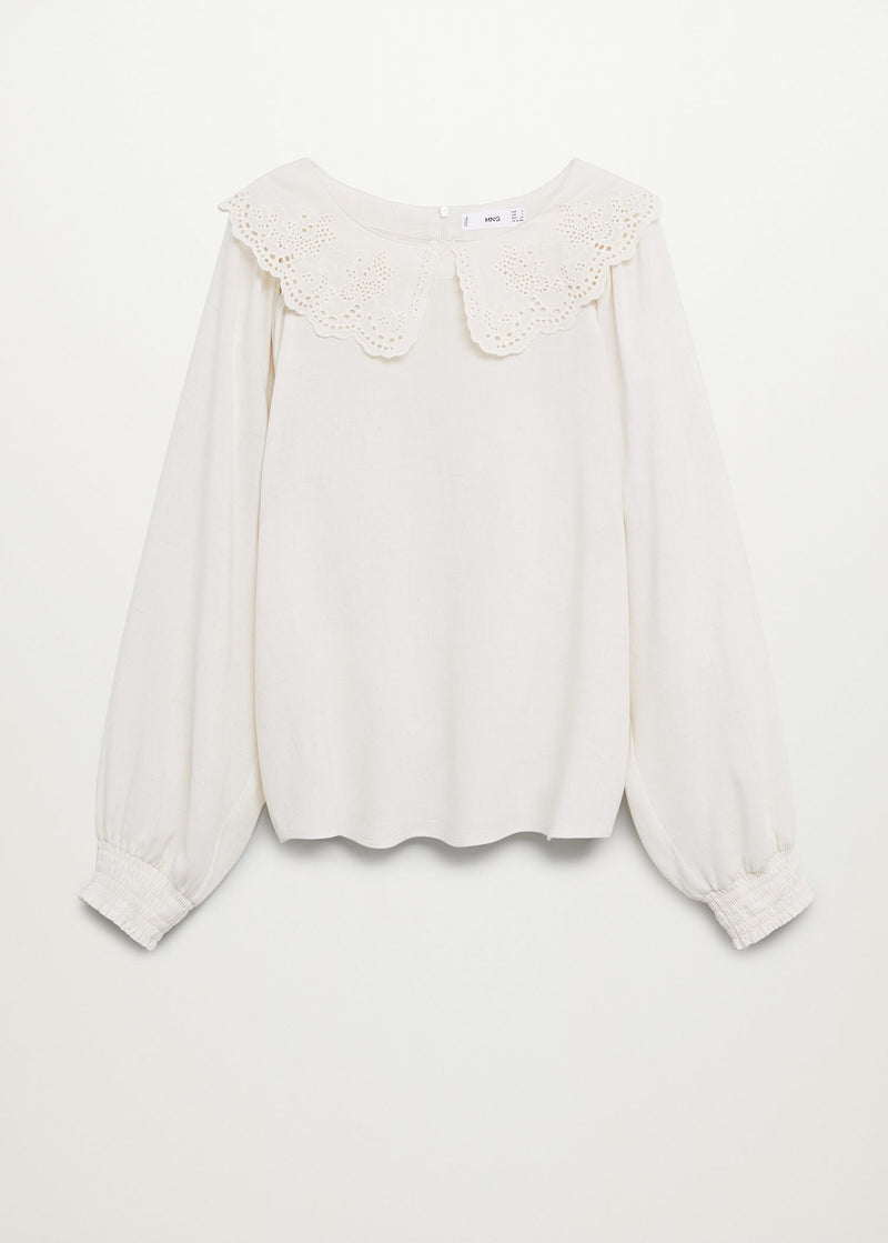 Double baby-collar blouse