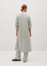 Mango Long knit cardigan for Women - Medium Plane