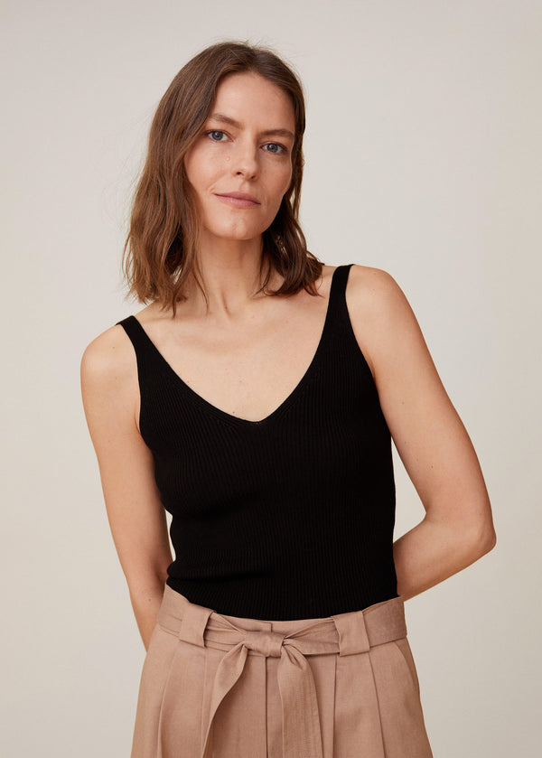 Mango Ribbed top for Women - Medium Plane