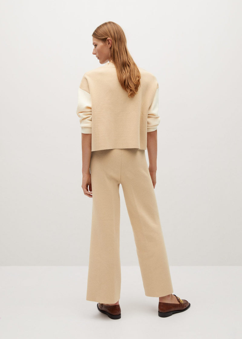 High-waist ponte trousers
