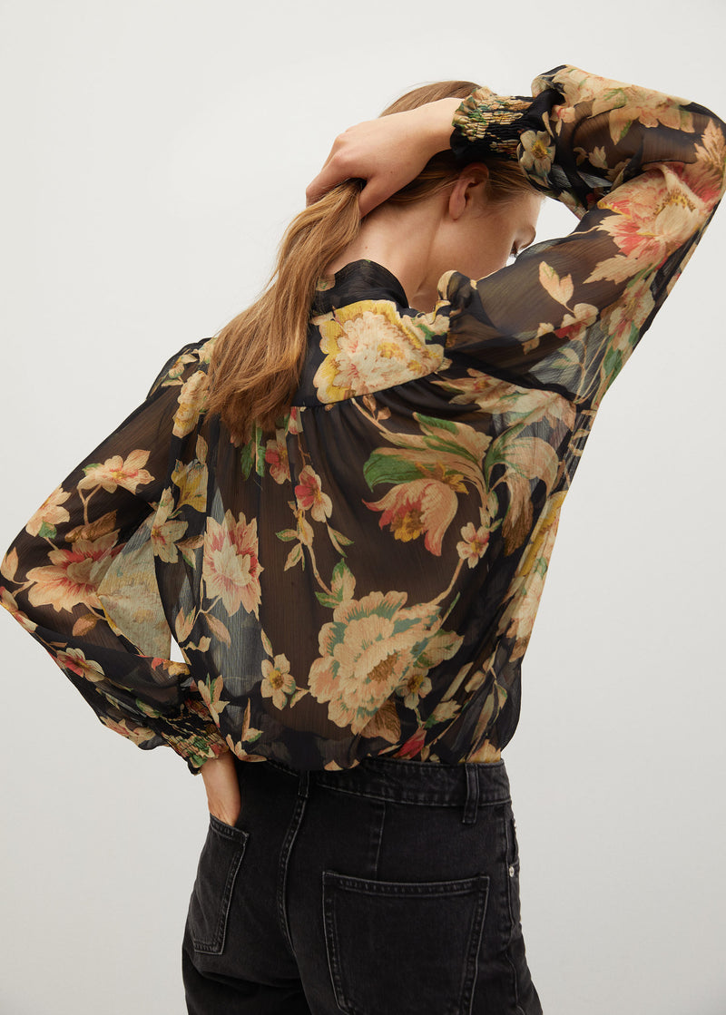 Mango Recycled polyester printed blouse for Women - Medium Plane
