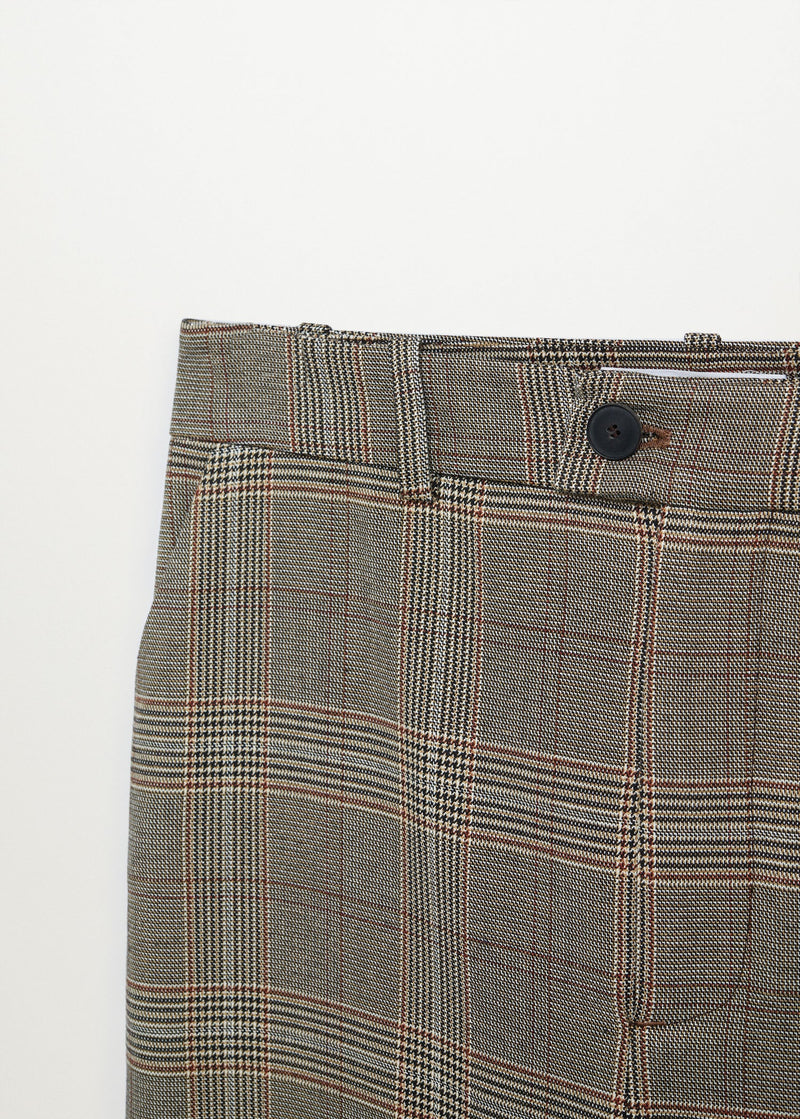 Mango Straight checked trousers for Women - Medium Plane