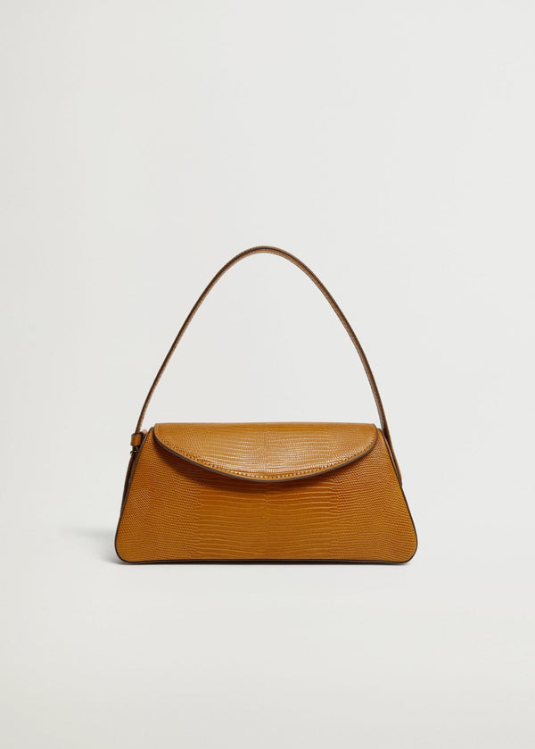 Baguette bag with flap