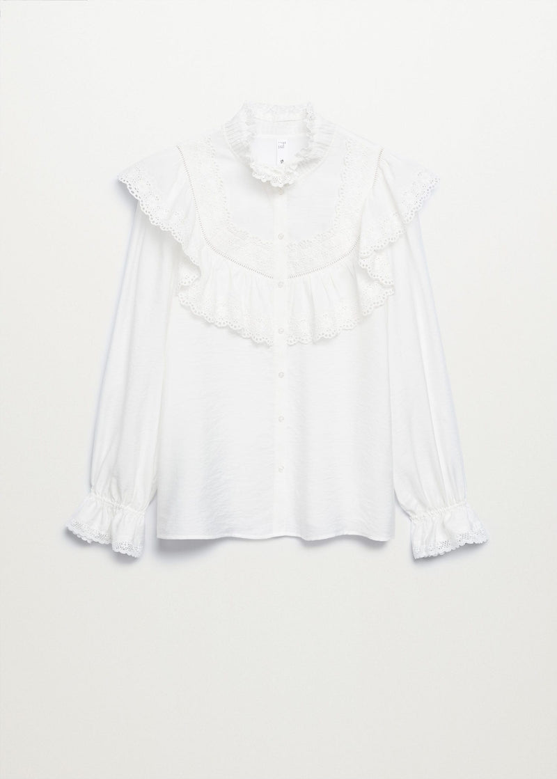 Openwork detail blouse