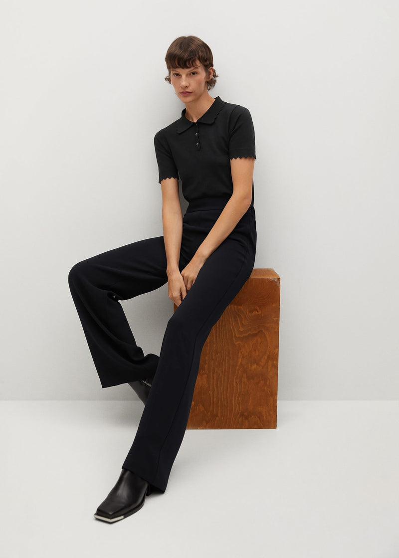 Flowy straight-fit trousers