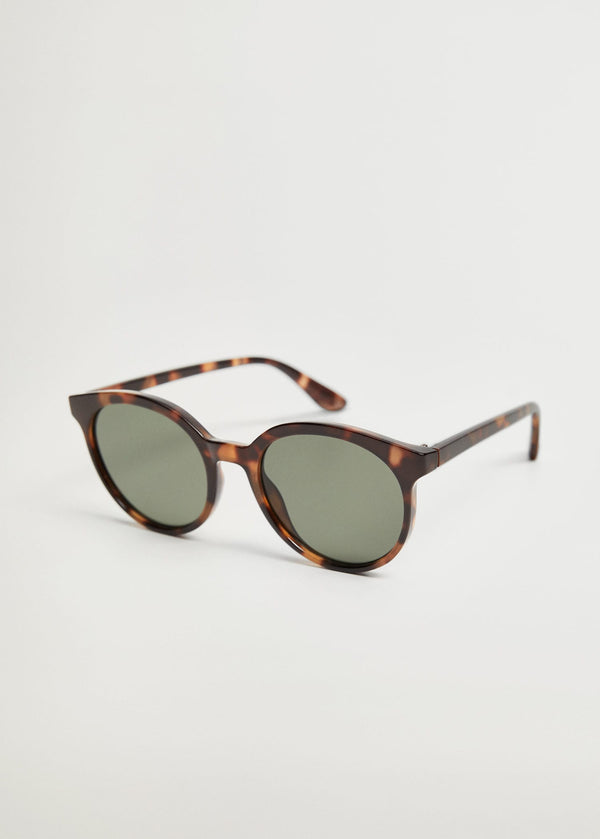 Tortoiseshell rounded sunglasses
