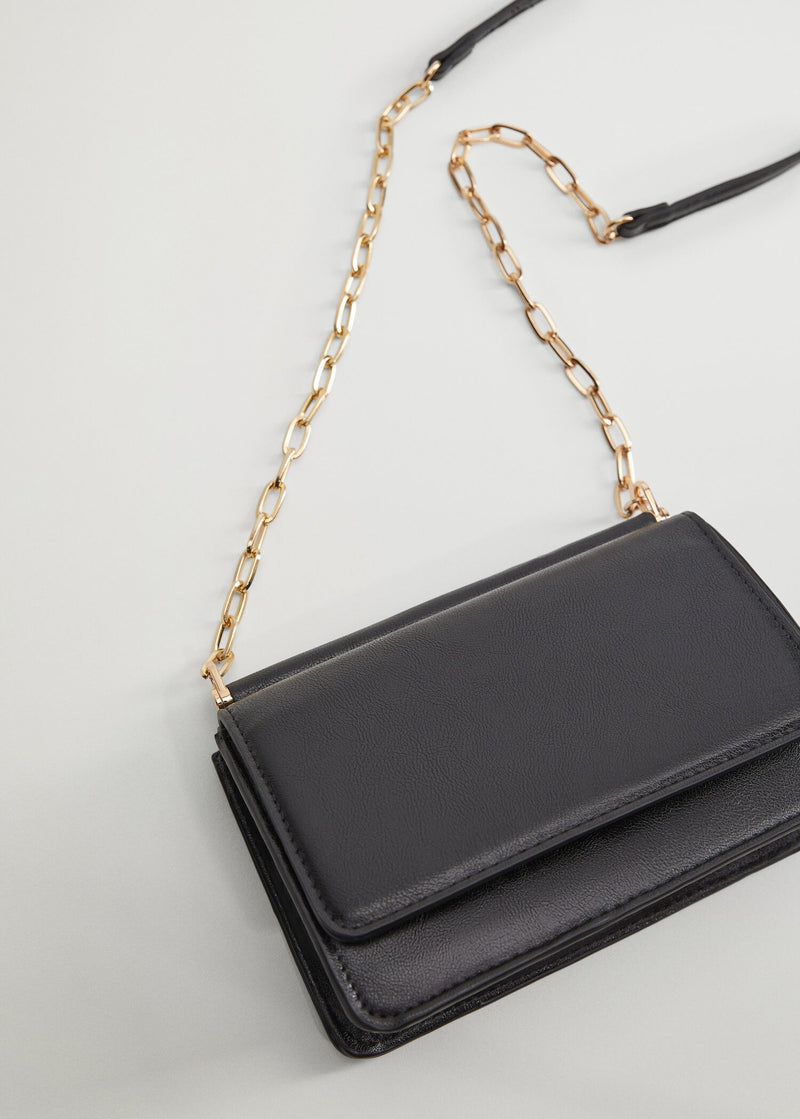 Flap chain bag