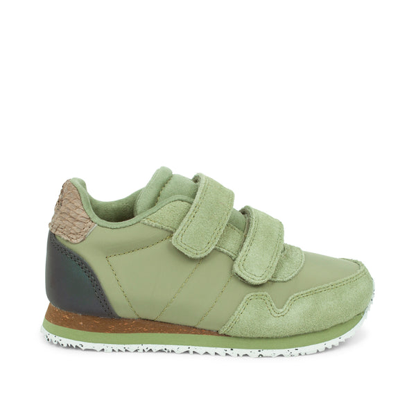 WODEN KIDS Nor Suede Sneakers 306 Dusty Olive