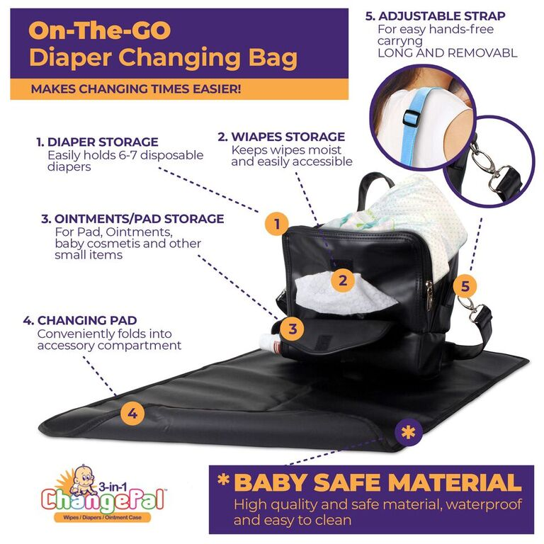 Mini Diaper Bag for easy access to most used baby items