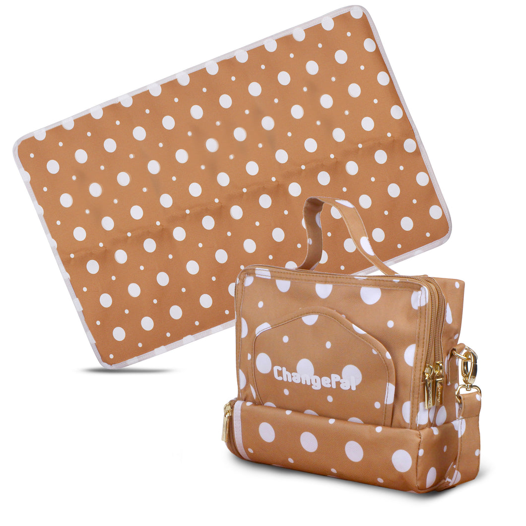 ChangePal v1 (Brown Polka) | Wipes Pouch version