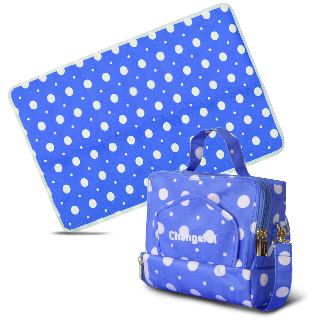 ChangePal v1 (Dark Blue Polka) | Wipes Pouch version