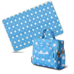 ChangePal v1 (Light Blue Polka) | Wipes Pouch version