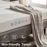 BDEUS 6 inch Gel Memory Foam Mattress with CertiPUR-US Certified Foam, Breathable Full Body Support Cooling Mattress Pad & Pressure Relief