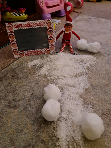 Elf and snow
