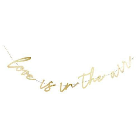 Love is in the Air Bunting | Gold