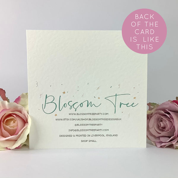 21st Birthday Luxury Card | Twenty One Birthday Card - Blossom Tree Party