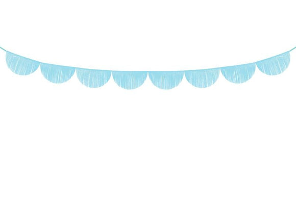 Scalloped fringe garland | sky-blue-Garland-Blossom Tree Party