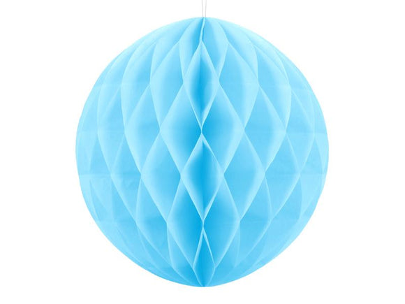 Honeycomb Ball | Sky-blue | 20cm-Honeycomb Ball-Blossom Tree Party