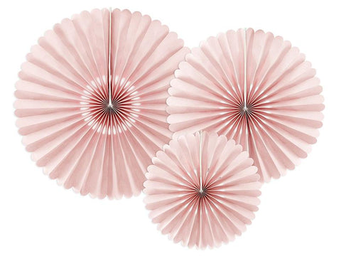 Decorative Rosettes | Dusty Rose | Pack of 3-Rosettes-Blossom Tree Party