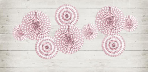 Decorative Rosettes | Light Pink Print | Pack of 3-Rosettes-Blossom Tree Party