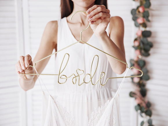 Bride Metal Hanger | Gold-hanger-Blossom Tree Party