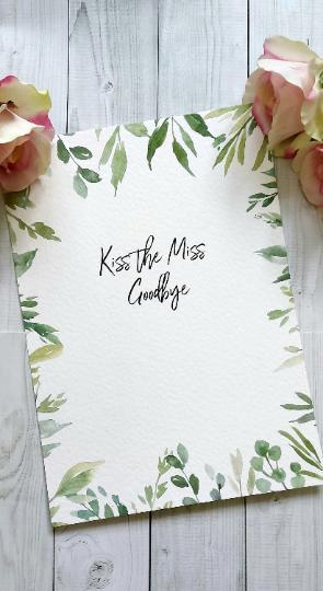 Botanical Greenery Hen Party Kiss the Miss Goodbye Guestbook-Guest book-Blossom Tree Party