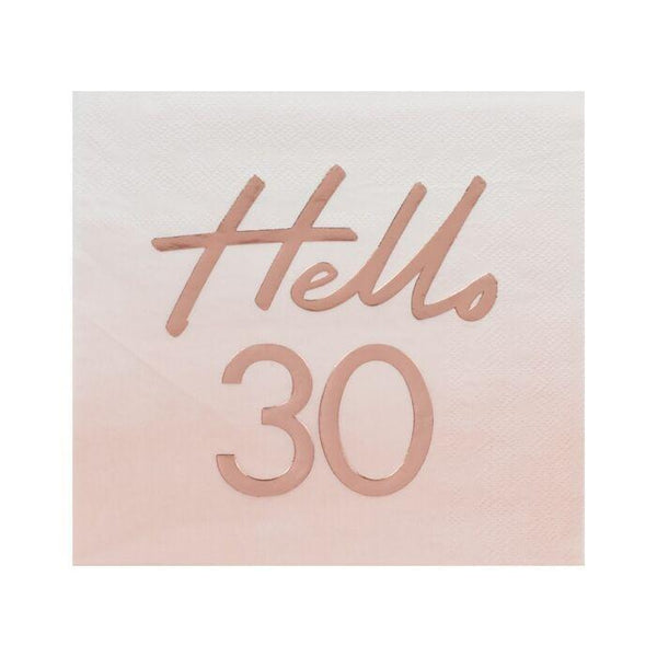 Hello 30 Birthday Party Napkin-Napkins-Blossom Tree Party