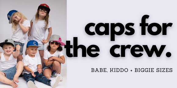 caps for the crew kids