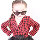 Kids Sunglasses Girls Black Petite Cat Eye