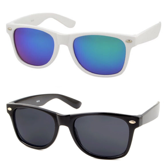 kids sunglasses wayfarer white and black