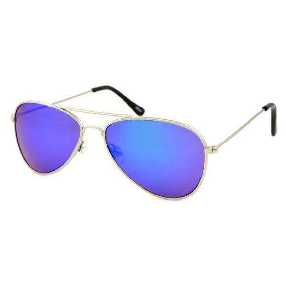 kids sunglasses aviator blue mirror