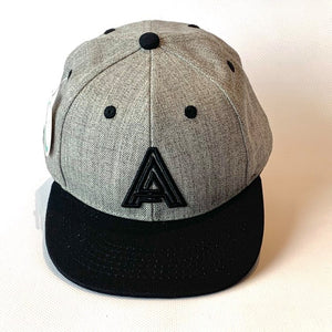 Letter A Cap Baby Kids Adult Grey Black