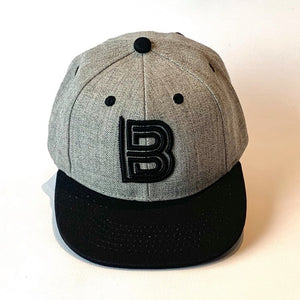Letter B Cap Baby Kids Adult pink grey
