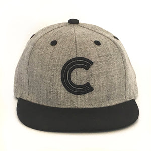 Letter C Cap Baby Kids Adult Blue