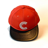 Letter C Cap Baby Kids Adult Red Rust