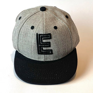 Letter E Cap Baby Kids Adult Grey