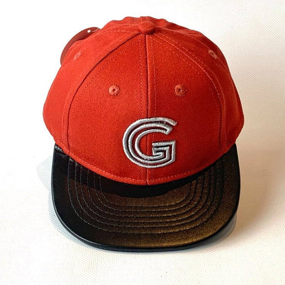 Letter G Cap Baby Kids Adult Rust Red