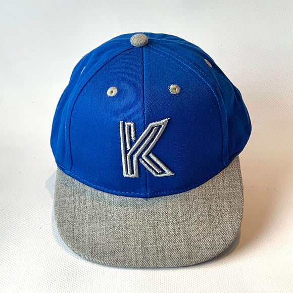Letter K Cap Baby Kids Adult Blue