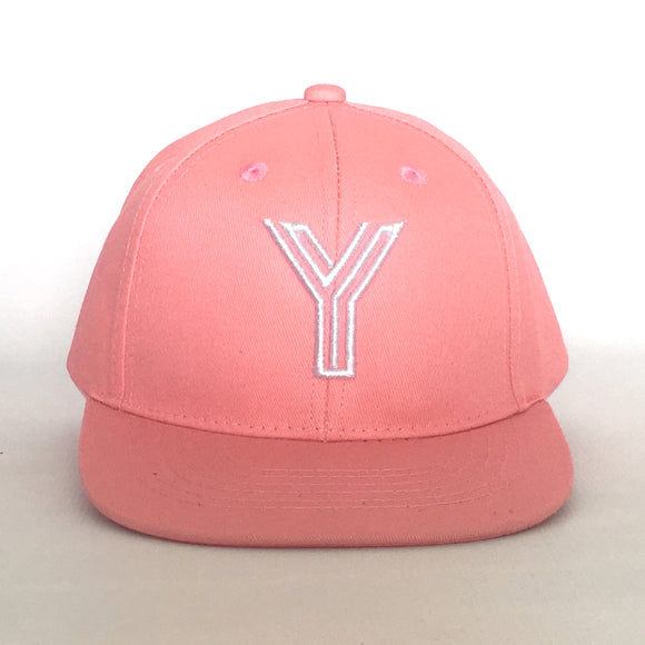 Letter Y Cap Baby Kids Adults Pink