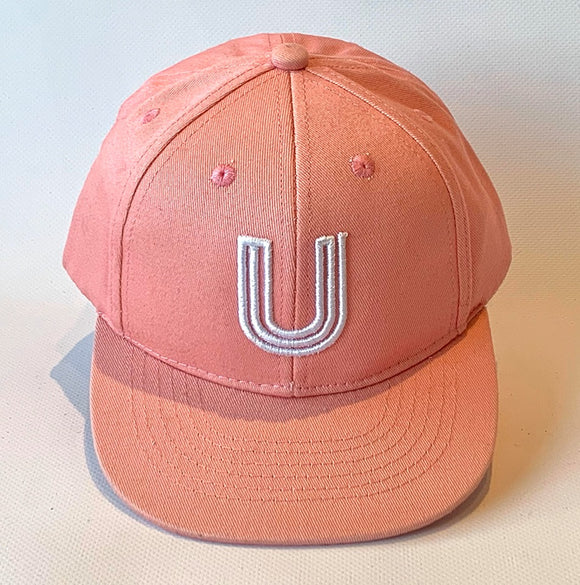Letter U Cap baby kids adult sizes pink