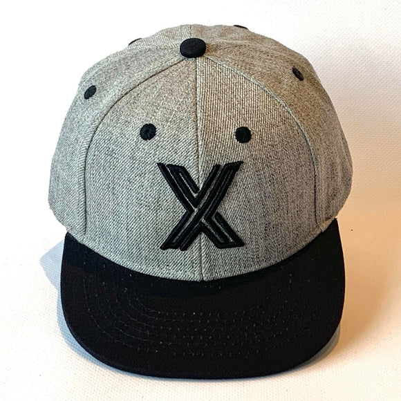 Letter X Cap baby Kids Adults grey black