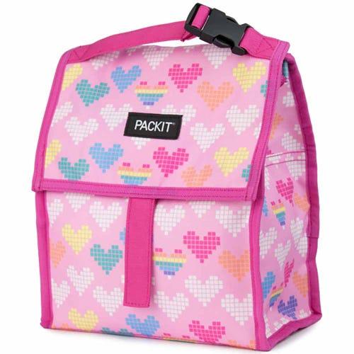 freezer lunch bag kids pink